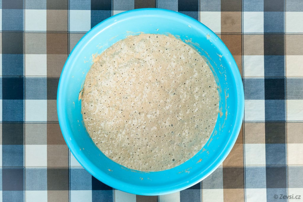 Žitný rozkvas na pečení chleba.