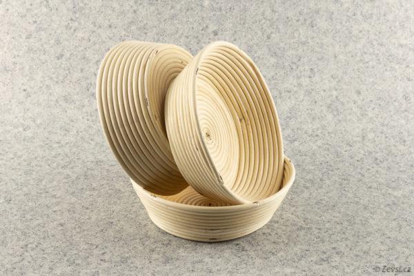 Pekařské ošatky na chleba kulaté na 1,5 kg pecen.