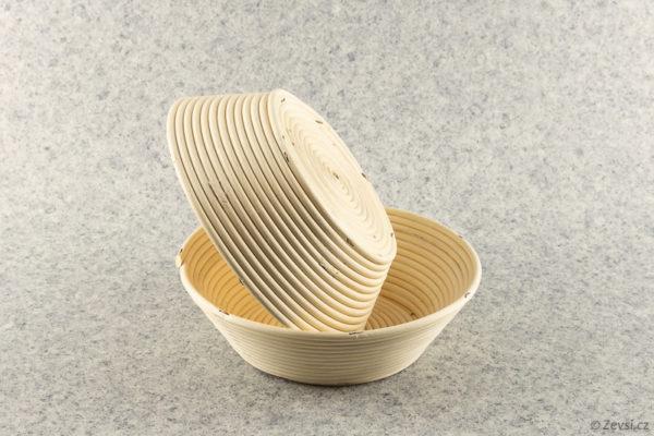 Pekařské ošatky na chleba velké kulaté na 2,2 kg pecen.