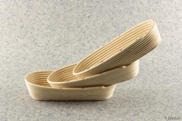 Pekařské ošatky na chleba oválné na 1 kg bochník.