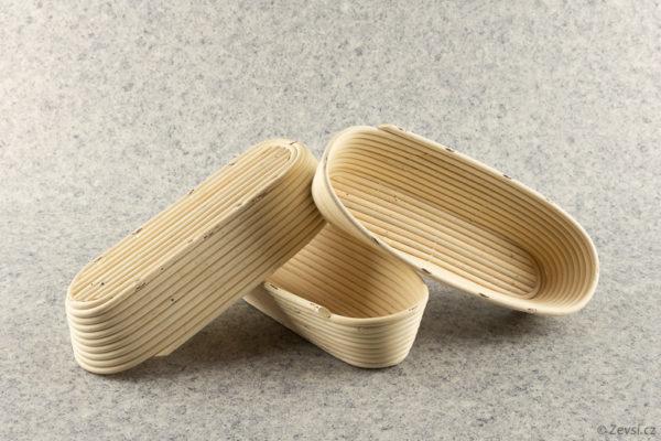Pekařské ošatky na pečení chleba oválné na 1 kg bochník.