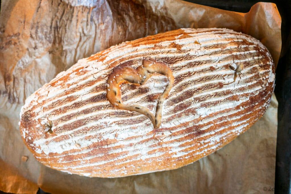 Kváskový domácí chléb Šumava.