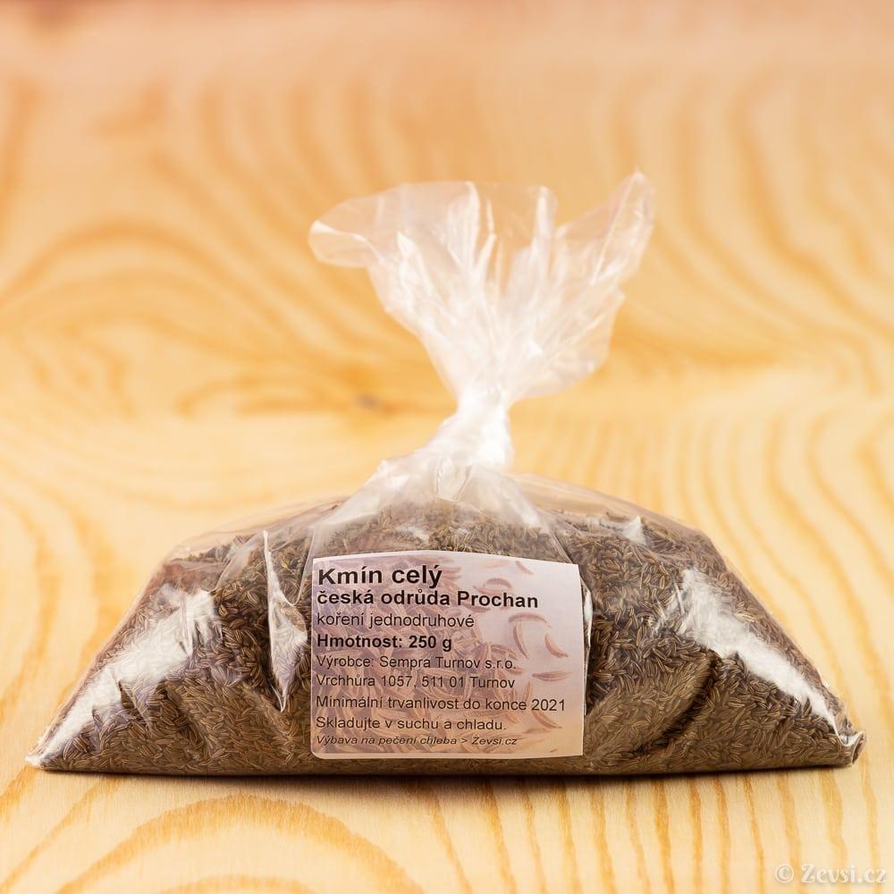 Český kmín kořenný Prochan, celý, 250 g.
