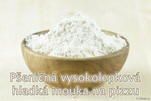 Pšeničná hladká vysokolepková mouka z českých mlýnů na pizzu, langoše, vánočky, kynuté buchty, mazance a další kynutá těsta.