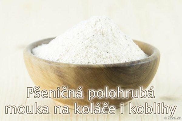 Pšeničná polohrubá mouka Professional z českých mlýnů na třená a šlehaná těsta, koláče, koblihy, noky, zavářky a těstoviny.