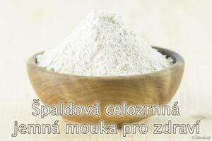 Špaldová mouka ze špaldy celozrnná jemná z českého mlýna, na zdravější pečení koláčů, chleba.