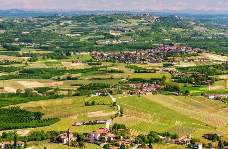 Italský kraj Piemont.