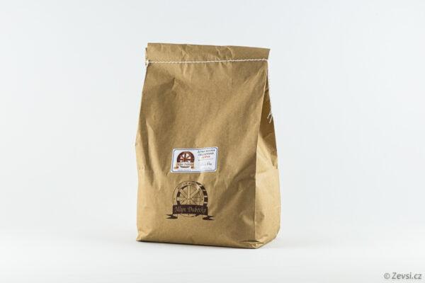 Žitná celozrnná mouka z českého mlýna, jemná, na pečení chleba a tmavého pečiva.